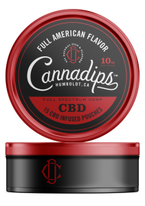 Cannadips CBD - CBD Infused pouches. Full American Single Can.