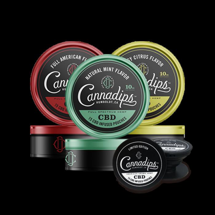 CBD infunderade påsar - Cannadips CBD startpaket.