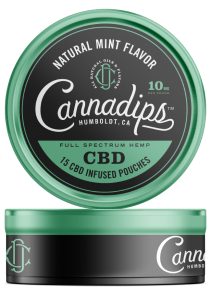 Cannadips CBD - CBD infuserade påsar. Natural Mint Single Can.